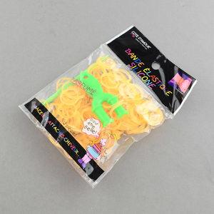 Loom gummiband + krok + ykrok ljus orange