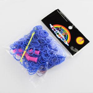 Loom gummiband + krok + ykrok blå