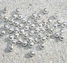 Kulor silverfärg 3mm ca 50st