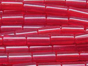 Glastuber / glasrör 6x15mm röda