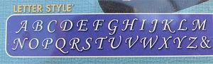 Bokstavsstansar Calligraphic 3mm