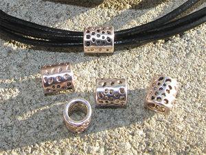 Metallpärlor tuber spets innermått 6mm