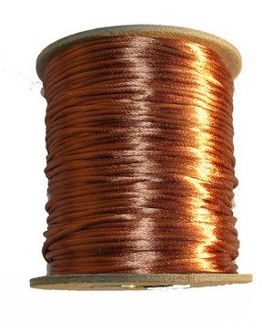 Satintråd 2mm cognacsbrun 3 meter