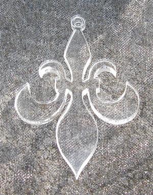 Plexiglas hänge fransk lilja
