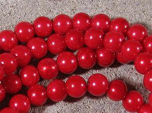 Klassiska 8mm klarröda 50st