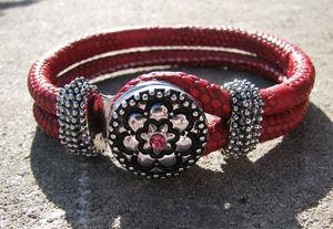 Chunk armband rött