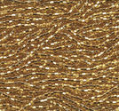 Seedbeads tjeckiska 11/0 gold silverlined
