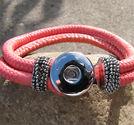 Chunk armband rosa