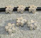 Metallpärlor blommor 10x12mm 3st