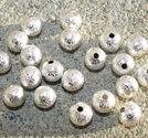 Stardust metallpärlor 6mm ljus silver 20 stycken
