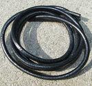 Läderrem 4mm svart 1meter