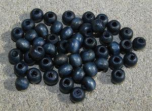 Träpärlor runda 6mm djupblå 50st