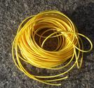 Vaxad polyestertråd 1mm gul 10m