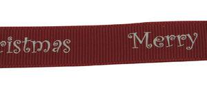 Satinband ribbat Merry Christmas 10mm 2meter