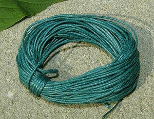 Vaxad bomullstråd 1mm havsgrön 10m