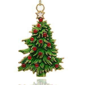 Hänge julgran med emalj och strass 69mm
