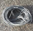 Vaxad polyestertråd 1mm ljusgrå 10m
