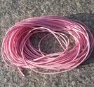 Vaxad polyestertråd 1mm ljusrosa 10m