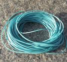 Vaxad polyestertråd 1mm ljusturkos 10m
