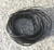 Vaxad polyestertråd 1mm svart 10m