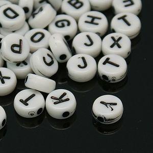 Acrylpärlor siffror 25st vita