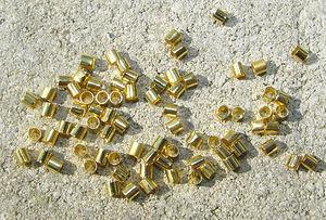 Klämpärlor rörformade 2mm guld