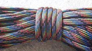 Paracord 550 4mm black rainbow 5m