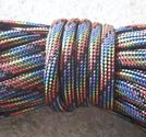 Paracord 550 4mm black rainbow 5m