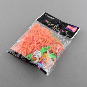 Loom gummiband + krok + ykrok orange