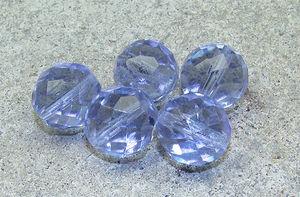 Facetter runda 14mm blå/lila 5st