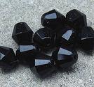 Facetter tjeckiska bicones 9mm svarta 10st