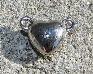 Magnetlås hjärta platina