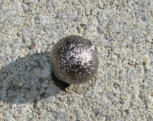Stardust metallpärlor 6mm svartoxid 20st