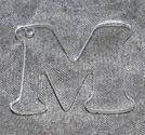 Plexiglas hängen bokstäver A-Z 35mm