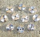 Mellandelar vågiga brickor antiksilver 10st
