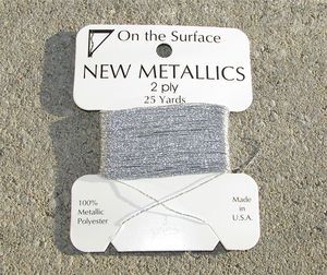 Metallictråd silver 25 yards