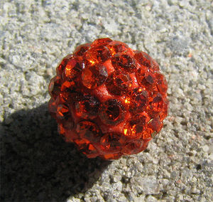 Strasspärla 10mm orange
