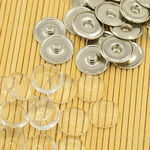 Chunk knappar glas för egen bild 5st