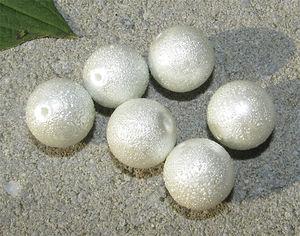 Ispärlor 14mm vita 6st