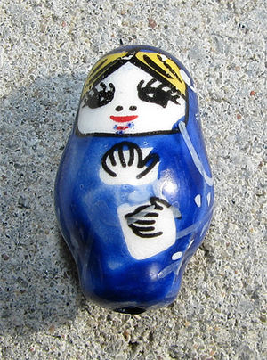 Rysk docka blå 21mm