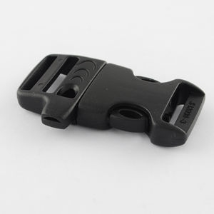 Paracord lås med visselpipa 20mm svart 1st