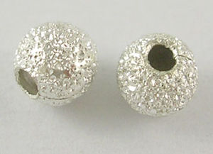 Stardust metallpärlor 4mm ljus silver 20st