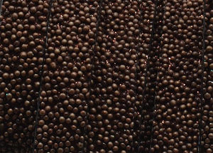 Läderrem platt 10mm caviar brons 20cm