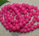 Glaspärlor jadeimitation 10mm rosa 25st