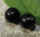 Halvborrade klassiska 6mm svarta 1 par