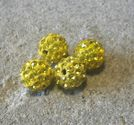 Strasspärla 10mm gul