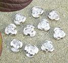 Metallpärlor rosor 10st
