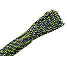 Paracord 550 4mm svart/blå/neongrön 5m