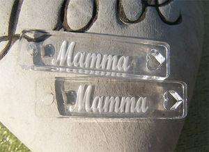 Plexiglas tag 9x40mm Mamma