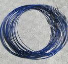 Halsband memory blå 3st